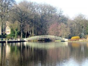 Superbe lac et pont de bagnoles de l'orne