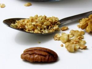 cuillère de granola maison