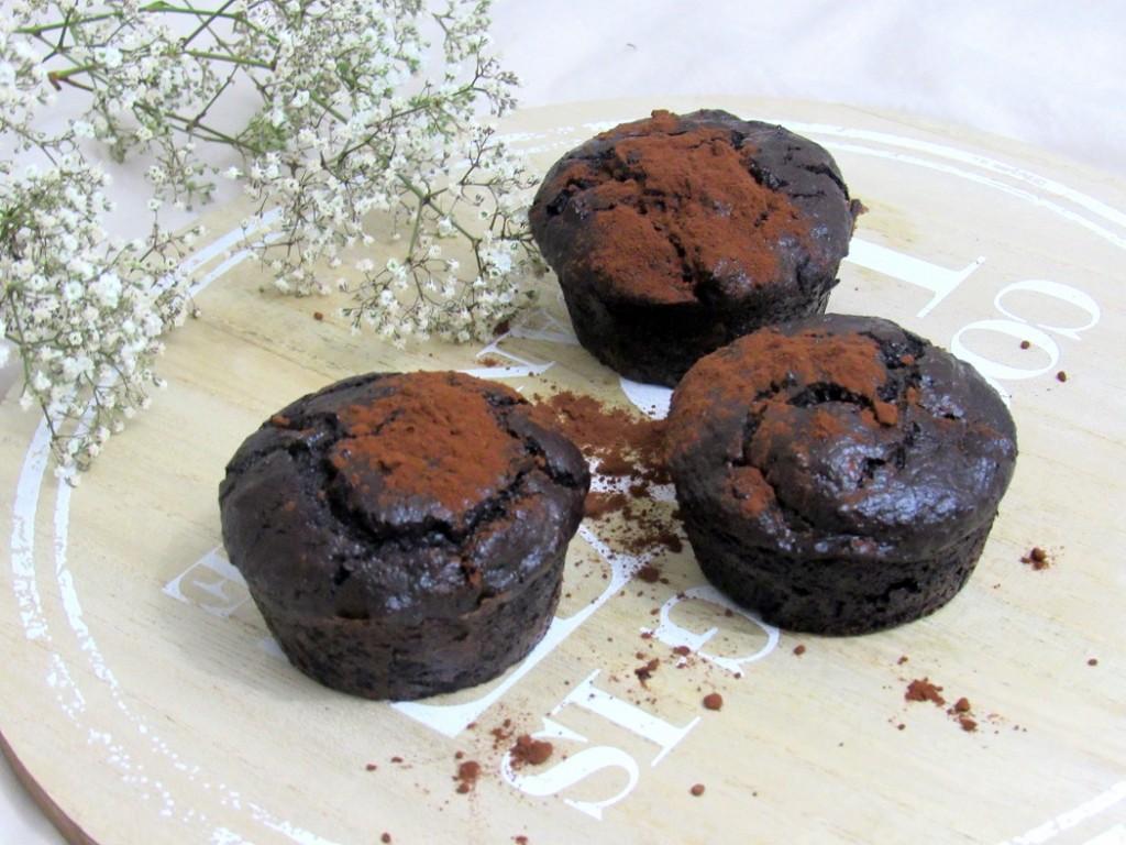 recette de muffins au chocolat healthy. Rapide et facile à faire.