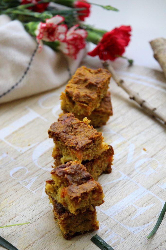 Recette de brownis salé aux carottes. Une recette rapide et facile à faire.