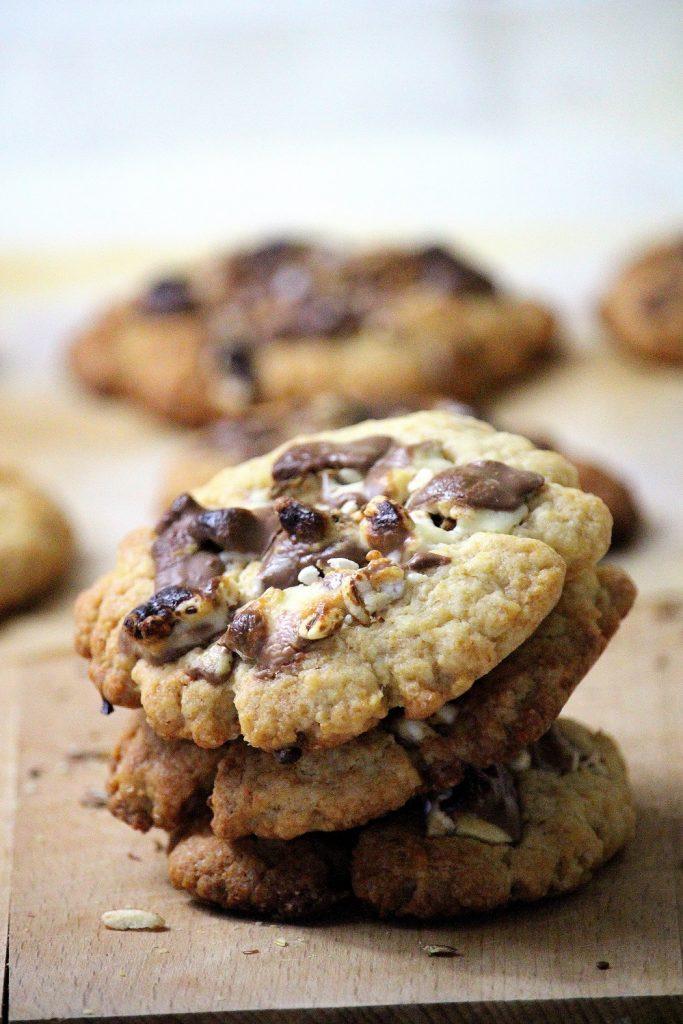 Recette de cookies au kinder country. Une recette gourmande et facile à faire.