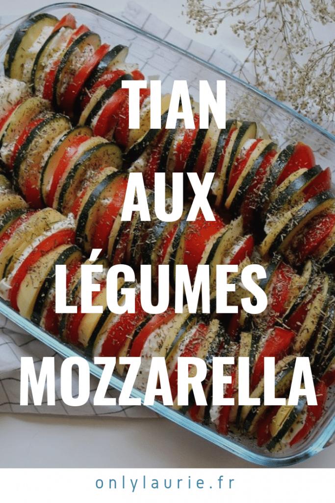 Recette de tian aux légumes et à la mozzarella. Parfaite pour l'été et les barbecues.