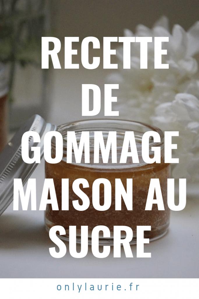 DIY recette de gommage maison au sucre, une recette naturelle et zéro déchet.