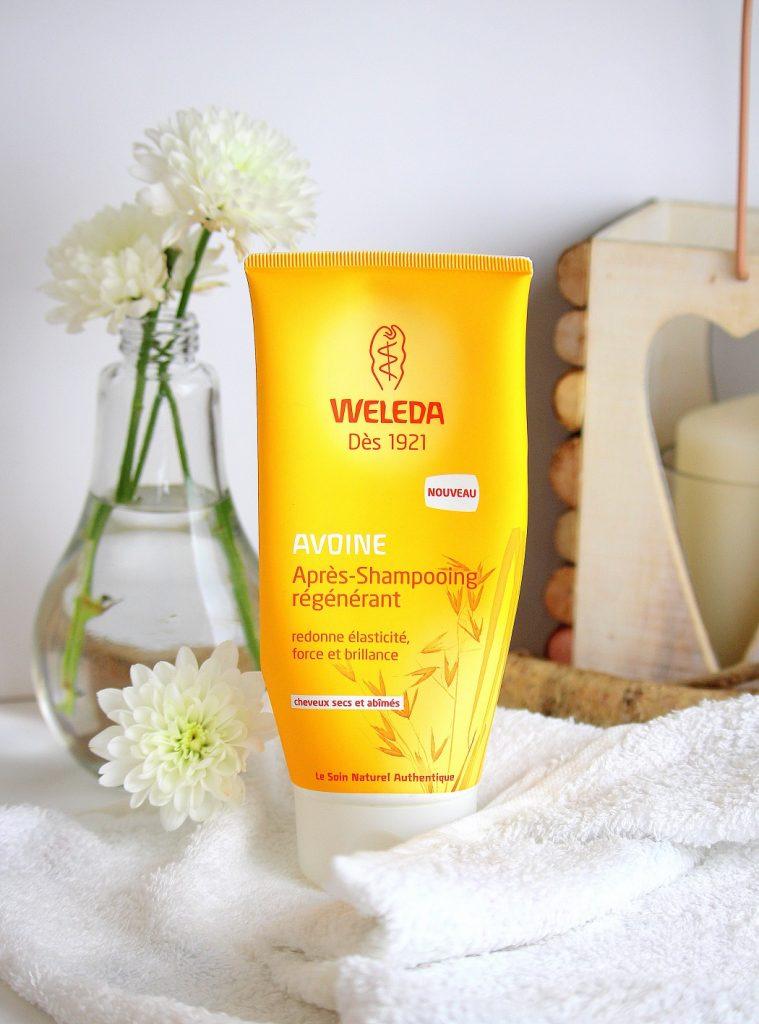 Mon avis sur l'après-shampoing régénérant de chez Weleda. Un soin bio pour les cheveux secs et abîmés.