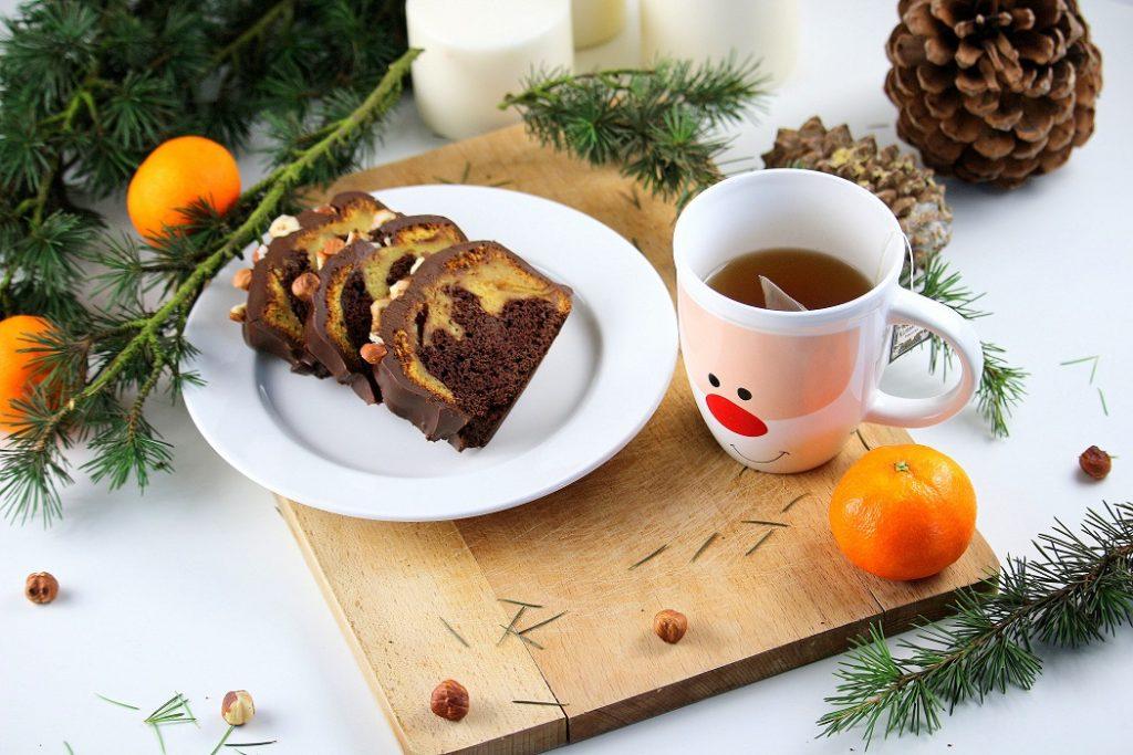 Recette de cake marbré clémentines et chocolat. Gourmande et facile à faire.