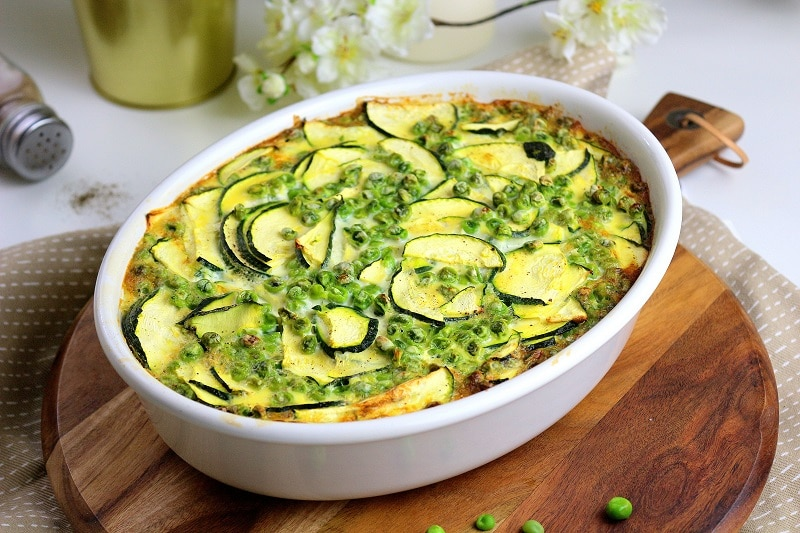 clafoutis petits pois et courgettes - only laurie