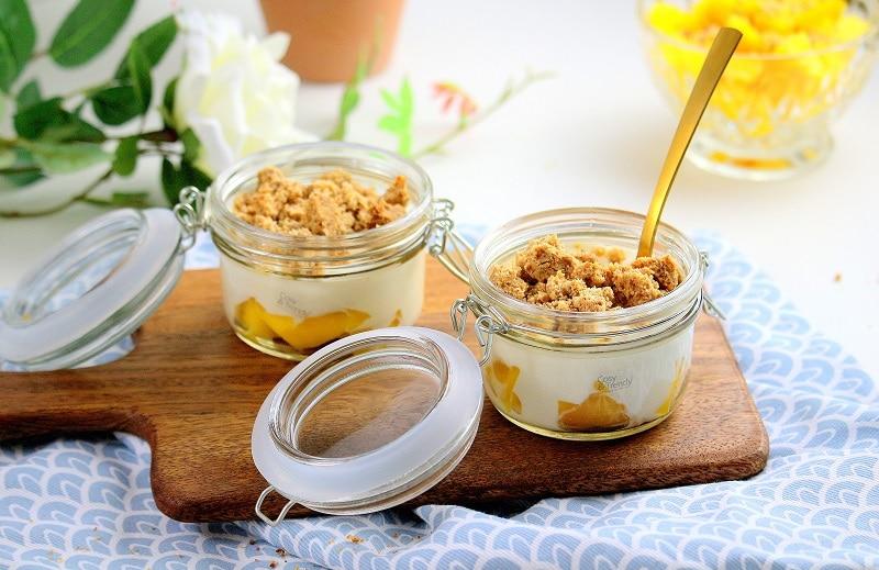 Recette de trifle à la mangue. Une recette healthy, facile et rapide à faire.