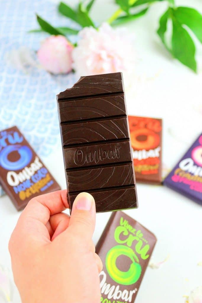 Je teste les chocolats Ombar. Vegan, sans lactose et sans gluten.