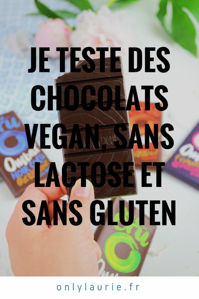 Je teste des chocolats vegan, sans lactose et sans gluten pinterest only laurie