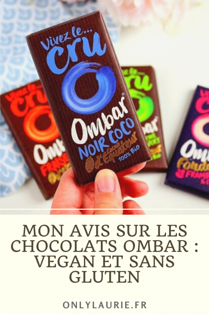Je teste les chocolats Ombar : vegan, sans lactose et sans gluten. Des chocolats bio de qualité.