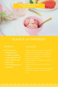 Fiche recette de glace à la pastèque. Recette healthy sans sorbetière.
