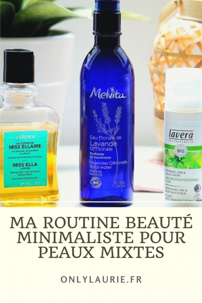 Ma routine beauté minimalistes pour peaux mixtes. 3 produits bio pour avoir une belle peau sans imperfections.