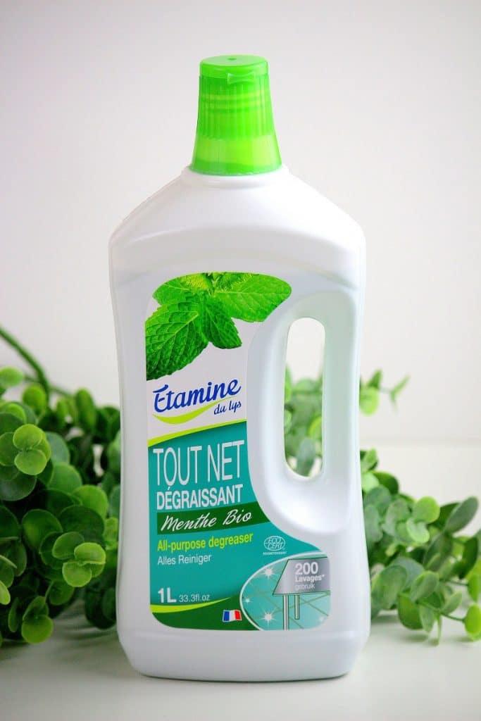 Produit bio dégraissant toutes surfaces à la menthe de la marque Etamine.