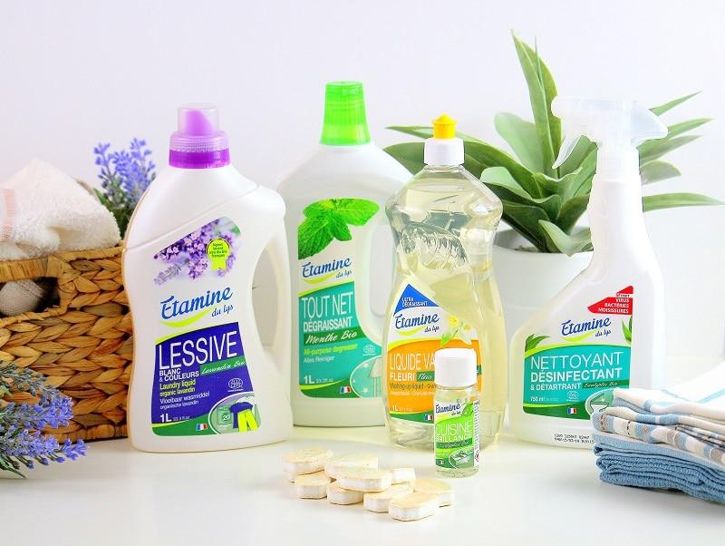 Mon avis sur les produits ménagers bio Etamine du lys. Des produits naturels qui ne sont pas nocifs.