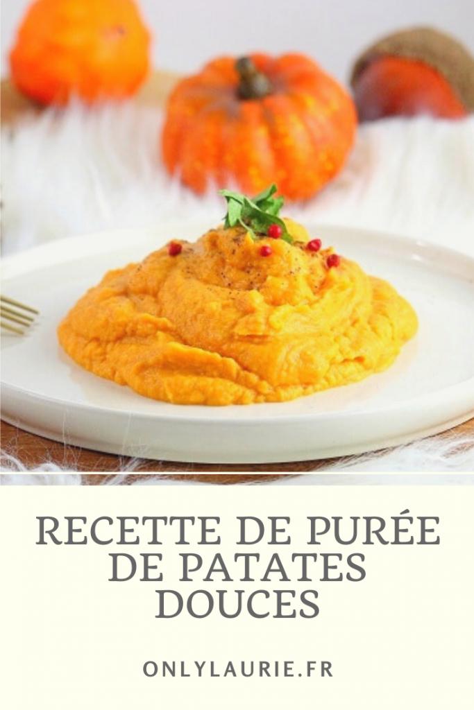 Recette de purée de patates douces. Healthy et facile à faire.