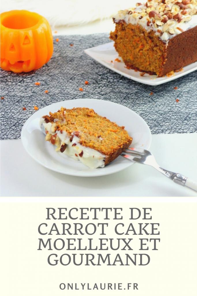 Recette de carrot cake moelleux et gourmand. Facile à faire.