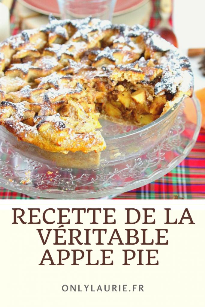 Recette de la véritable apple pie pour thanksgiving. Dessert gourmand aux pommes.
