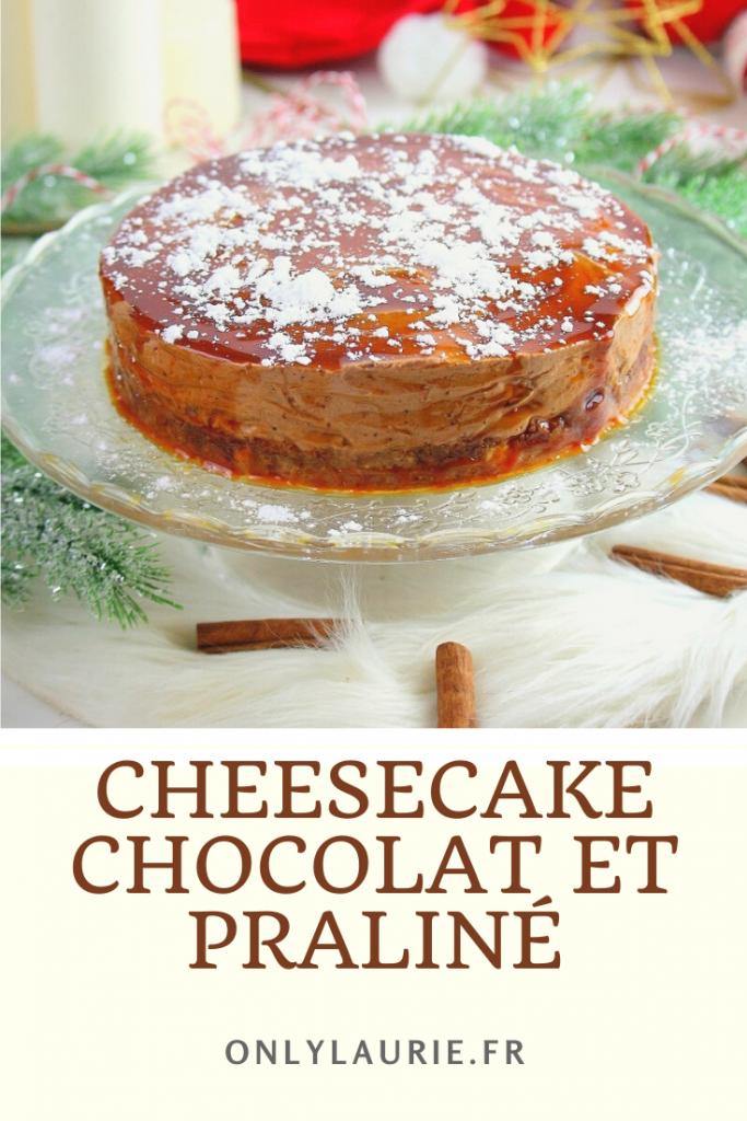 Recette de cheesecake chocolat et praliné. Parfaite en dessert de Noel.