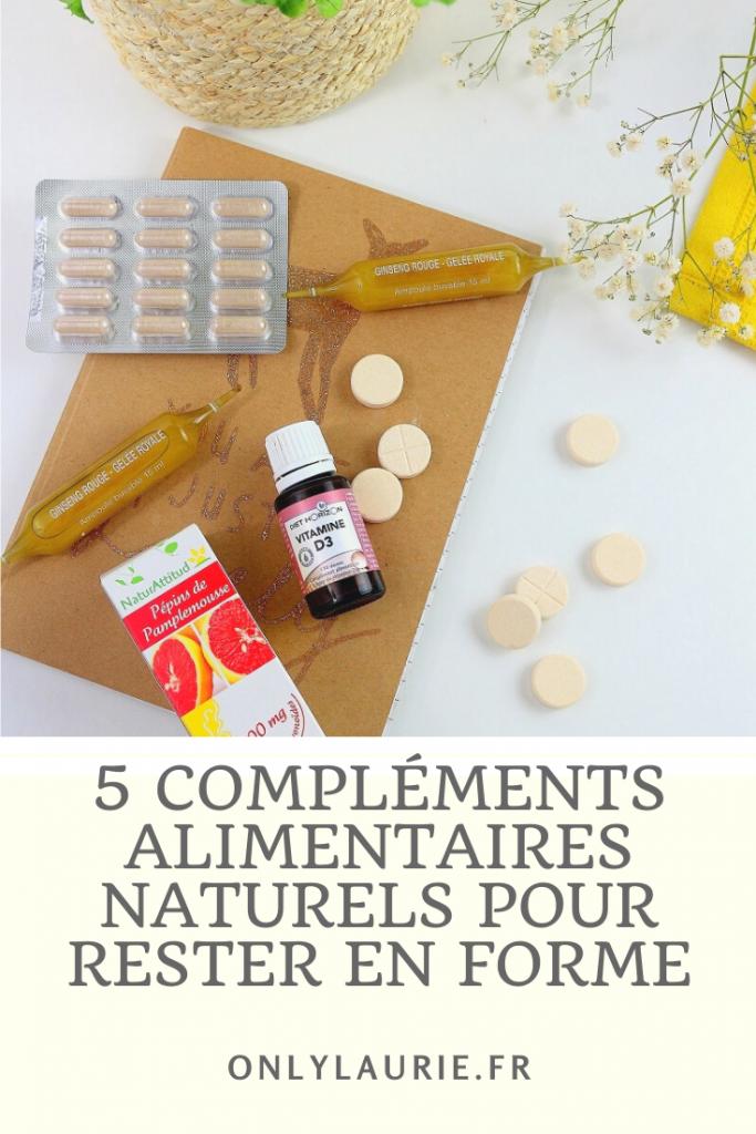 5 compléments alimentaires pour rester en forme. Des compléments bio et naturels.