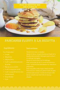 Fiche recette pour faire des pancakes fluffy à la ricotta.