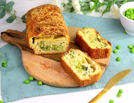 cake brocoli petits pois et ricotta only laurie