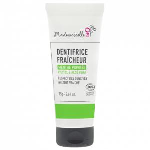 dentifrice-fraicheur-a-la-menthe-poivree-mademoiselle-bio only laurie
