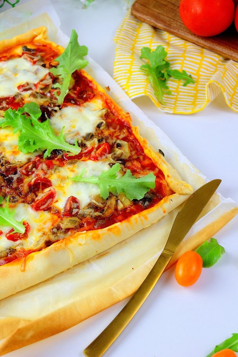 Recette de pizza maison facile à faire.