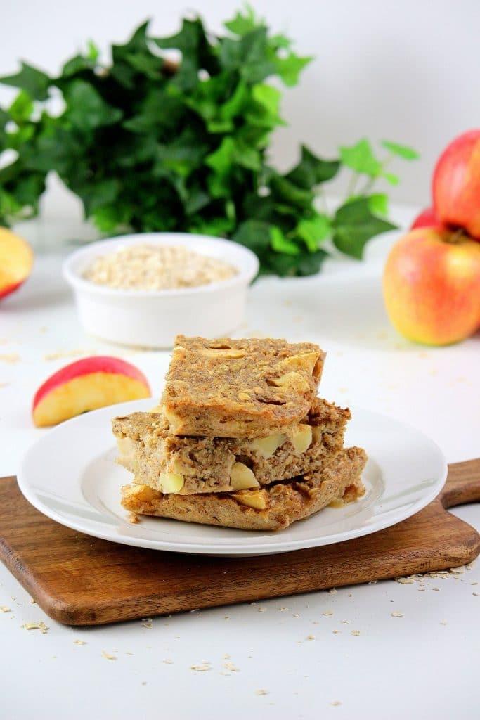 Recette de gâteau de porridge aux pommes, recette à emporter.