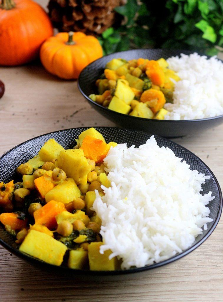 Curry vegan aux légumes d'automne. Une recette healthy.