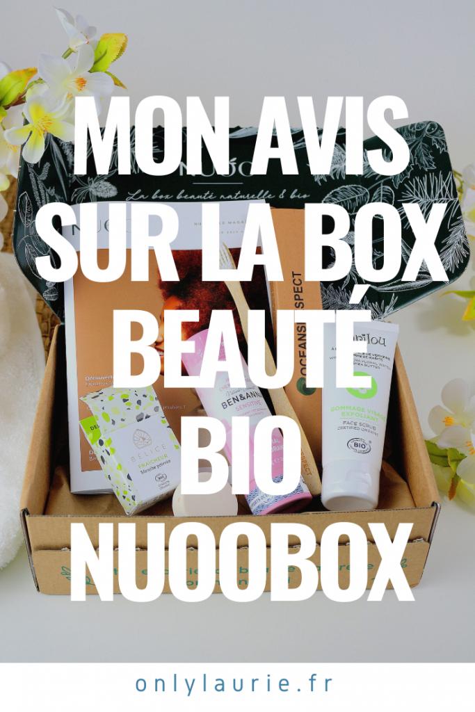 Mon avis sur la box beauté bio et naturelle Nuoobox.