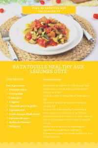 Fiche recette de ratatouille healthy aux légumes d'été. Une recette vegan, facile à faire et parfaite pour l'été.