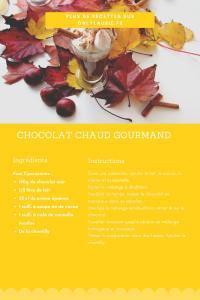 Fiche recette pour faire un chocolat chaud maison épais et gourmand.