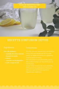 Fiche recette d'infusion détox au citron. Facile à faire parfaite pour nettoyer l'organisme.