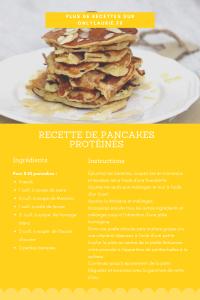 Fiche recette pour faire des pancakes healthy et protéinés. Gourmande et facile à faire à base de banaes, fromage blanc et flocons d'avoine.