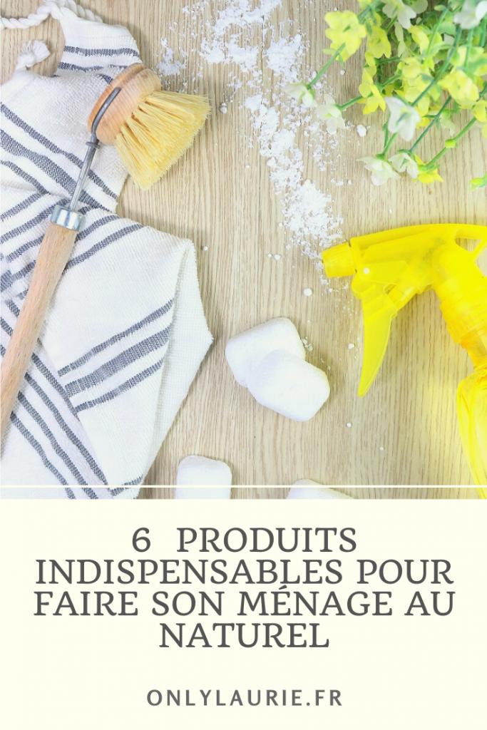 6 produits indispensables pour faire son ménage au naturel. Un ménage écolo, zéro déchet et économique. Des produits ménagers bio et sain.