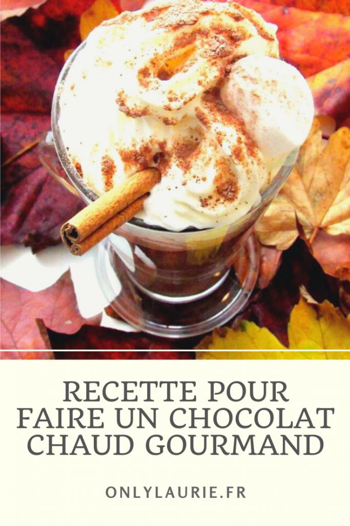 Recette facile à faire d'un véritable chocolat chaud gourmand et épais.