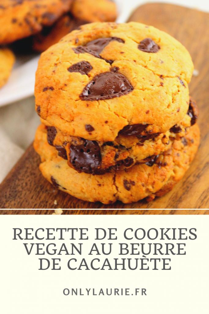 Cookies vegan au beurre de cacahuète. Recette de cookies sans beurre, sans œufs, ni lactose. Facile et rapide à faire.