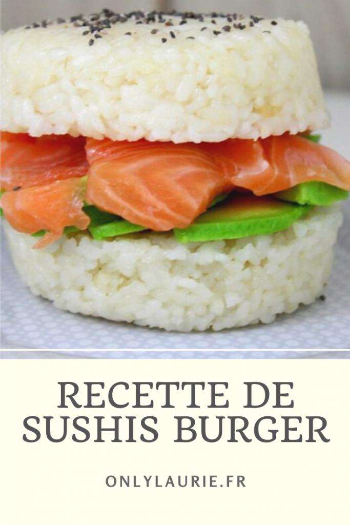Recette de sushis burger ou burger sushis. Healthy et facile à faire.