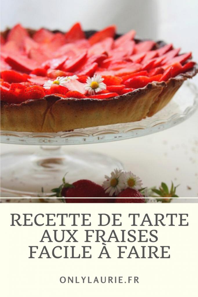 Recette pour faire une tarte aux fraises. Une recette gourmande et facile à faire avec une pâte sablée gourmande.
