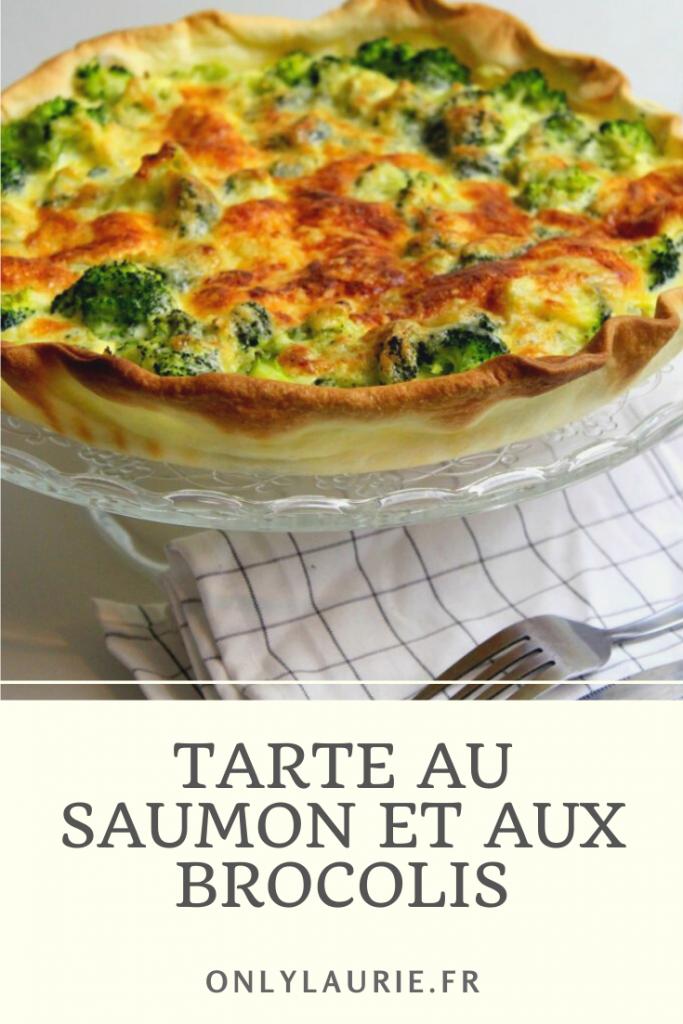 Recette de tarte au saumon et aux brocolis. Gourmande, rapide et facile à faire. Parfaite pour le déjeuner ou le repas du soir.