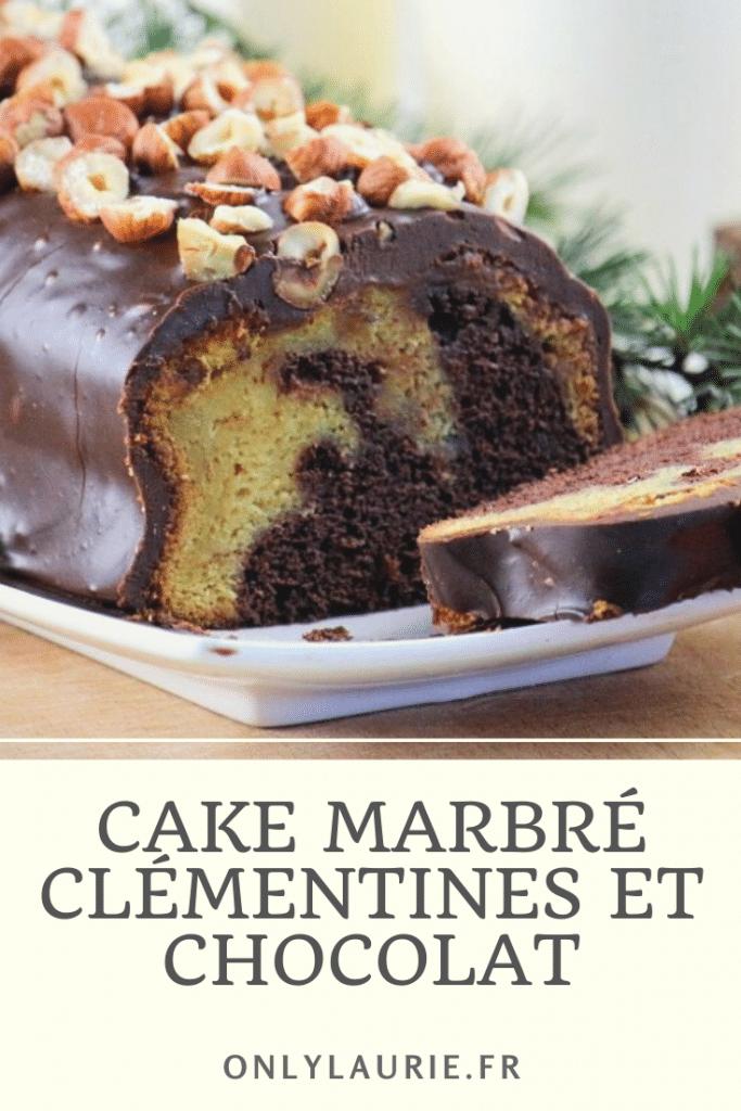 Recette de cake marbré clémentines et chocolat. Rapide et facile à faire. Parfait pour un goûter ou un dessert gourmand.