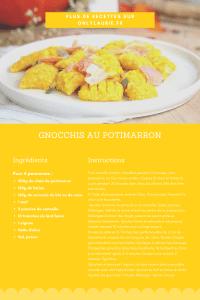 Fiche recette pour faire des gnocchis au potimarron. Recette pour toute la famille.
