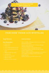 Fiche recette pour faire des pancakes vegan aux myrtilles. Une recette gourmande, facile et rapide à faire.