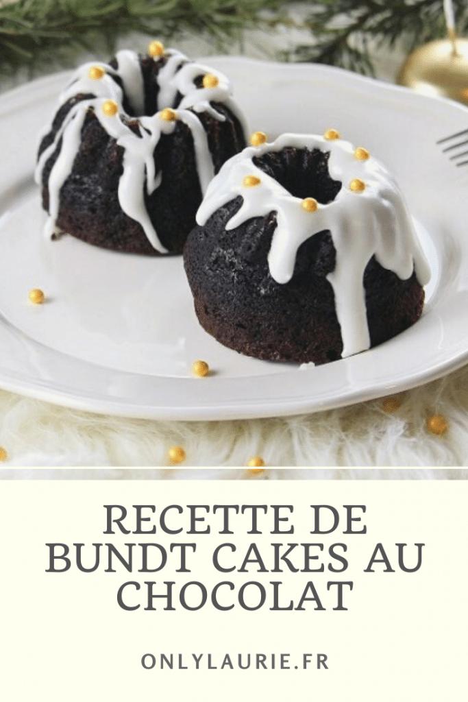 Recette de bundt cakes au chocolat. Gourmande, rapide et facile à faire. Parfaite pour un dessert de Noël ou un goûter.