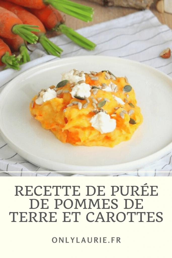 Recette de purée de pommes de terre et carottes. Une recette simple et facile à faire. Végétarienne, gourmande et réconfortante.