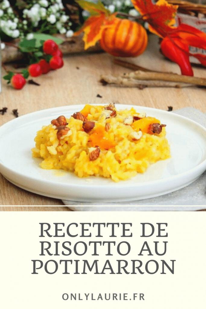 Recette de risotto au potimarron. Gourmande et facile à faire. Une recette végétarienne parfaite pour l'automne.