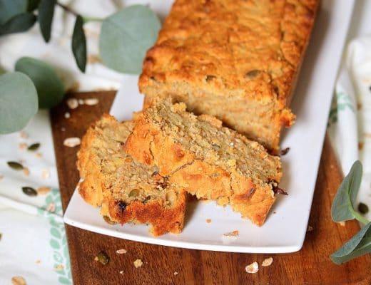 Recette facile de cake au muesli. Une recette saine pour un petit déjeuner complet.