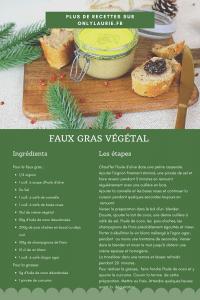 Fiche recette pour réaliser son faux gras végétal. Une alternative vegan au foie gras. Facile à réaliser.