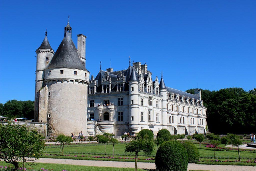Le superbe château de Chenonceau et ses jardins.