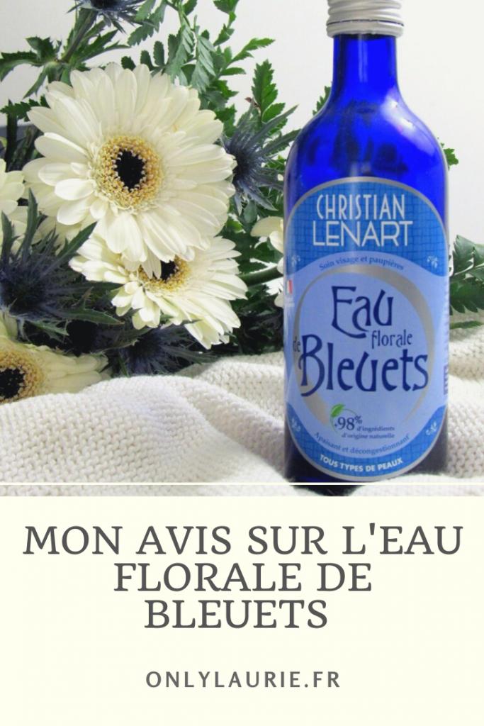 Mon avis sur l'eu florale de bleuets de chez Christian Lenart. Produit naturel qui convient à toutes les peaux. Tonifie, apaise et décongestionne.
